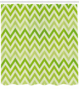 Image Is Loading Lime Green Shower Curtain Traditional Chevron Print For