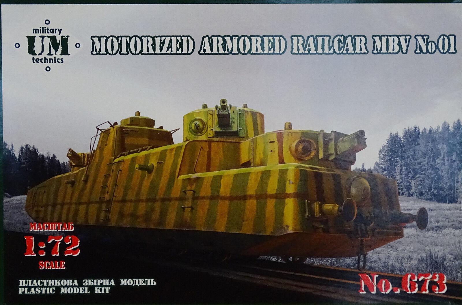 UM UNIMODELS  673 Motorized ArmGoldt Railcar MBV No.01 in 1 72