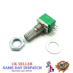 15mm Stereo Potentiometers RK097G Ohm Tone 6 Pins Volume Mixer Pot Control