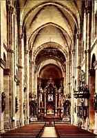 Kirchen Motiv-Postkarte WORMS am Rhein Dom Innenansicht color Postkarte gelaufen