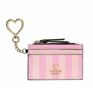 Victoria's Secret Metallic coin credit card small bag wallet with keychain