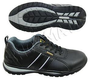Para-Hombre-Cuero-Negro-non-Metal-Composite-Puntera-Seguridad-Zapatos-Botas-formadores-6to13