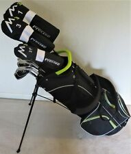 Tall Mens Complete Golf Set - Driver Wood Hybrid Irons Putter Clubs Stand Bag