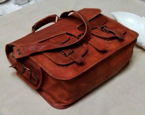 Brown Pure 827155843333 Goat Shoulder Menns Laptop Veske Messenger Bag Leather Vintage 47FRIxqgw