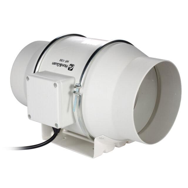 "6""Miexd FlowIn Line Duct Booster Fan Hydroponic Bathroom Extractor Blower 312CFM"