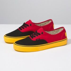 74901b85db80 Vans x Disney Mickey Authentic Red Yellow Black Shoes Sneakers ...
