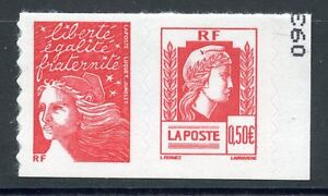 STAMP-TIMBRE-FRANCE-NEUF-N-P3716-EN-PAIRE-MARIANNE-ALGER-ADHESIF