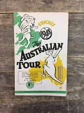 Vintage Souvenir Of Australia's 1948 Cricket Tour Collectable Programme.