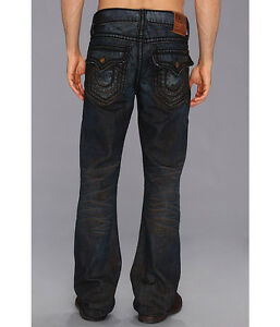 c17435a0643  361 NEW True Religion Jeans Men Ricky 40 x 34 Straight Leg Low Rise ...