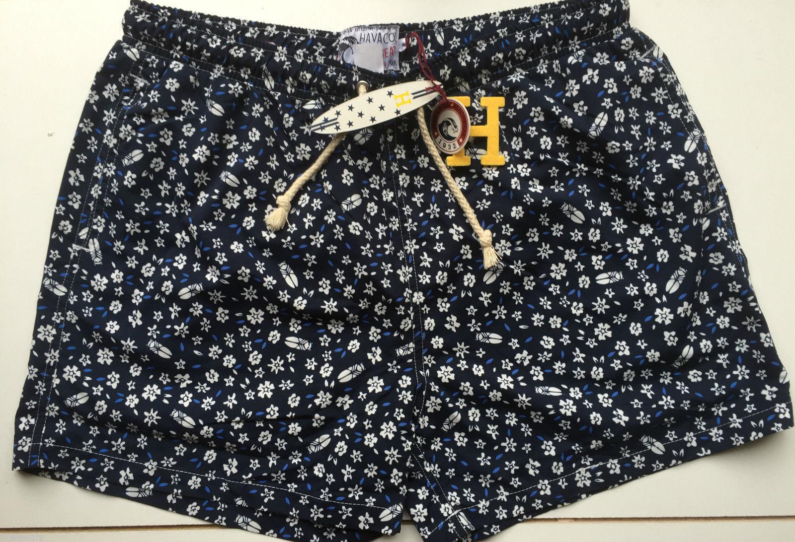 Mens Havacoa Swim Shorts Surf  Blau Floral  XL  W34 Authentic New  | Wonderful  | Abrechnungspreis  | Zuverlässige Leistung