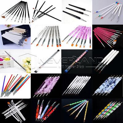 Latest Nail Art Design Set Dotting Painting Drawing Polish Brush Pen Tools Kit