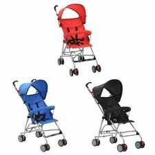 vidaXL Sillita de Paseo de Bebé Acero Carrito Cochecito Niños Rojo/Azul/Negro