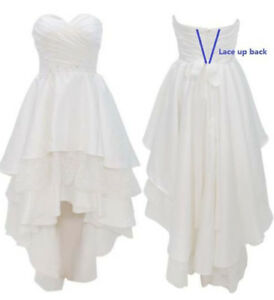 Image Is Loading Plus6 30W Satin Beach Wedding Dress Short High