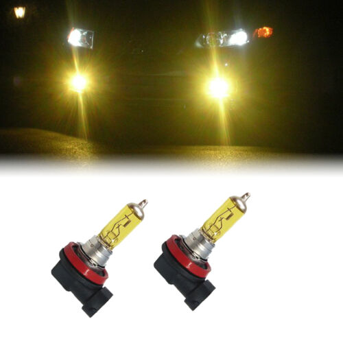 YELLOW H11 XENON 100W LOW BEAM BULBS TO FIT VW Taro MODELS