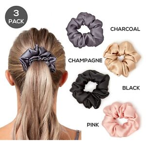 Gioia-Casa-100-Mulberry-Silk-Thick-Scrunchie-Hair-Ties-Luxury-Accessory-3-Pack