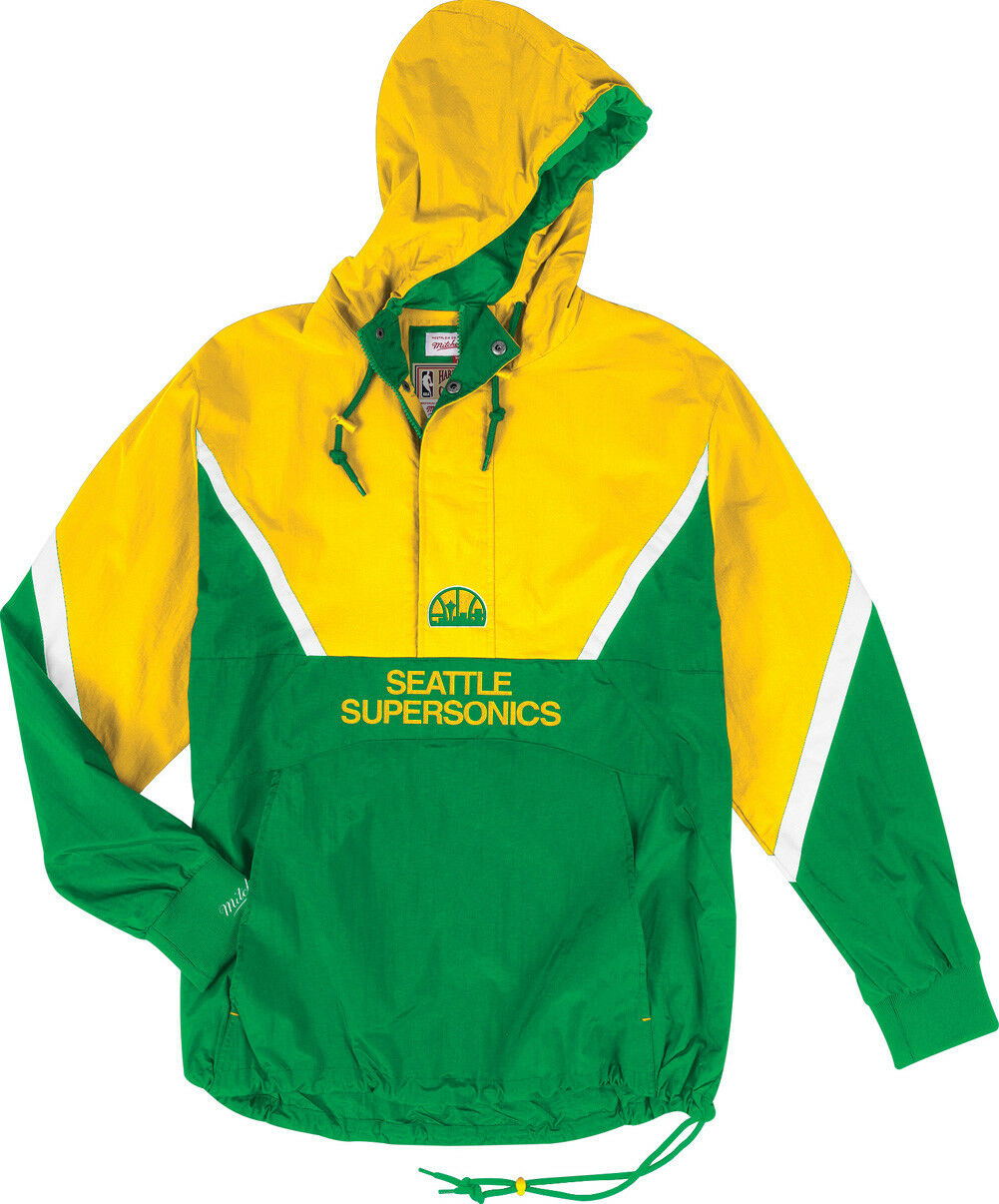 Mitchell & Ness les Supersonics de Seattle Zippé Anorak Veste Coupe-Vent NBA Hwc