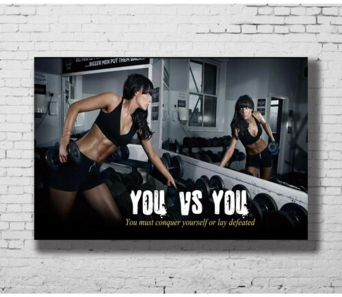 24x36 14x21 40 Poster Bodybuilding Fitness Motivation Art Hot P-1274