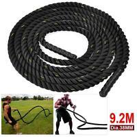 30/40/50ft Training Battle Power Rope Battling Sport Exercise Fitness Bootcamp