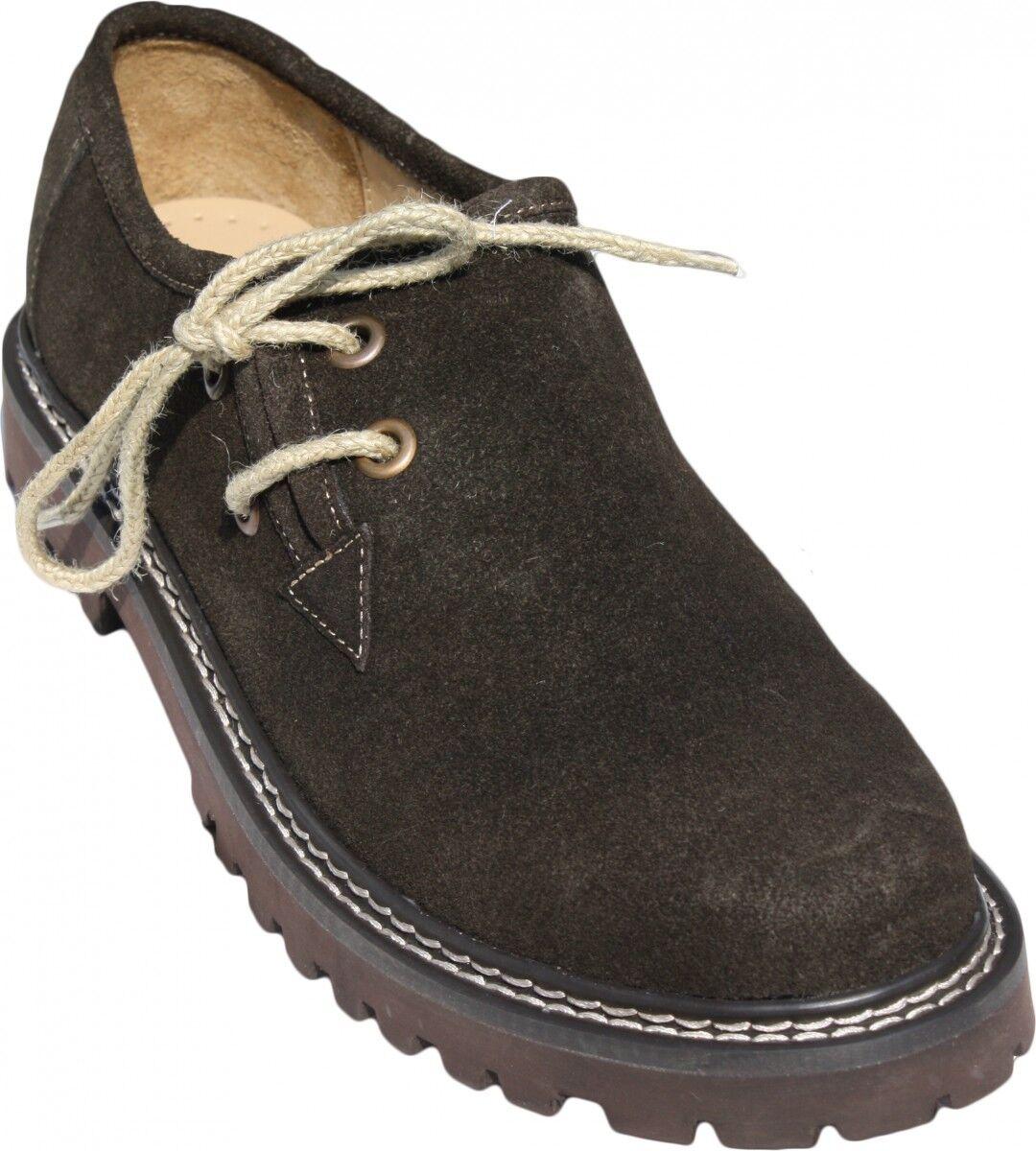 Haferlschuhe Trachtenschuhe Trachten Schuhe echtleder wildleder juteschnüre Brau