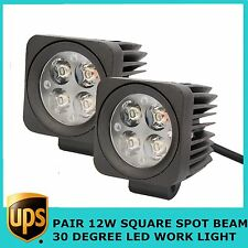 2X12W Square LED Work Light Bar Spot Offroad Jeep Truck UTE ATV 4WD Driving Lamp