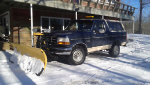 1992 Ford Bronco 4x4 Plow Truck