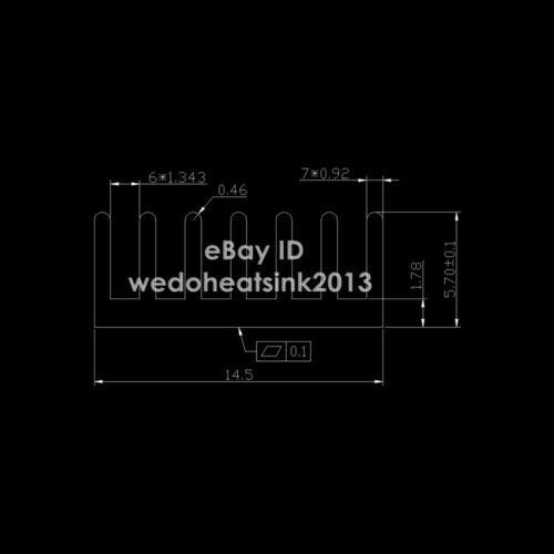 20pcs 14*14*6mm Extruded Aluminum Radiator Extrusion Aluminium Heatsink Cooler