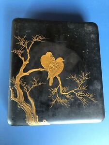 Box-or-Boxset-Antique-Decor-Abode-Fly-Away-Bird-Embossed-Golden