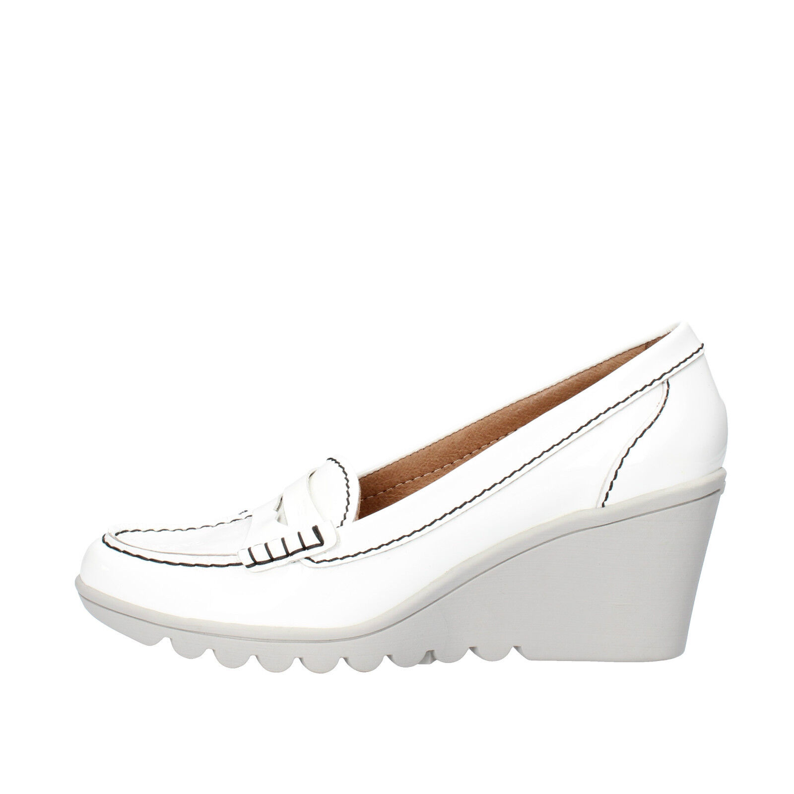 mujer zapatos Keys 39 Pumps blanco Paint AG785-C