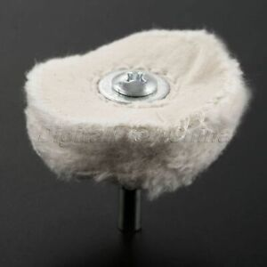 50mm Flannel Cloth Polishing Cleaning Wheel Pad 6mm Shank Grinder Rotary Tool