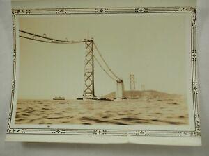 Constructing-Dorado-Puerta-Puente-California-Blanco-y-Negro-Foto-Alrededor-1935