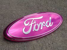 "2005-2014 Ford F-150 Front Grille Grill Pink Oval 9"" Emblem Badge New Design Hot"