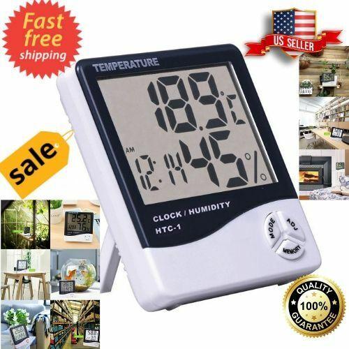 Hygrometer Humidity Meter Gauge Monitor Sensor Indoor Digital Reader temp Checke