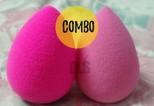 2 Pcs COMBO Beauty Blender LARGEST SIZE Makeup Sponge Powder Puff (LATEX FREE)