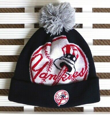 d7678a7b494821 Details about NY YANKEES New Era Navy Bobble Beanie Hat MLB Toque OSFA  Pompom New York USA