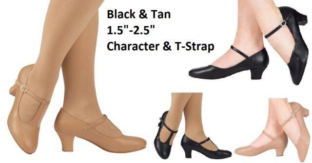 Dance Character Tap Shoes MANY OPTIONS Adult & Child Sizes JAZZ Tap Black Beigi