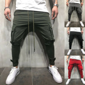 Men-039-s-Gym-Pants-Sweatpants-Fitness-Jogger-Workout-Low-Crotch-Long-Baggy-Trousers