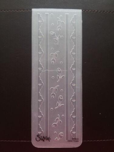 Sizzix Medium Embossing Folder DELICATE ROSE LACE fits Cuttlebug Big Shot