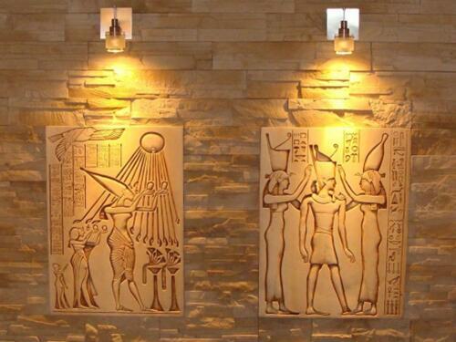 Thoth Relief Agypten Ägyptische Reliefs Gips Skulptur Wandrelief Flachrelif Bild