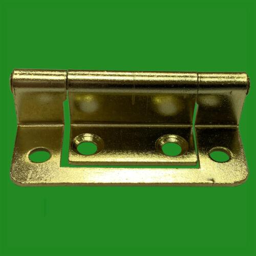 4x 50 mm Laiton Semi dissimulée double coudé Flush Cabinet Charnière Porte