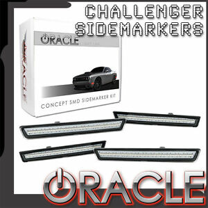 2015 Dodge Challenger Oracle Concept LED Sidemarkers Clear Set of 4 9860-019