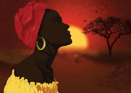 ETNICI ARTE AFRICANA contati cross stitch chart anche disponibile come A4 stampa lucida