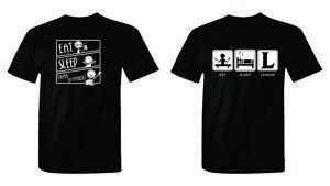 Eat-Sleep-League-T-Shirts-Funny-Gaming-LOL-Apple-Shirts