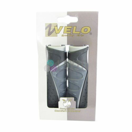 Bicycle Handlebar Grips Velo D3 Comfort Ergogel Black-Grey