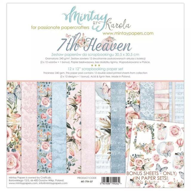 Mintay By Karola 7th Heaven 12x12 Scrapbook Paper Collection Pack Mt