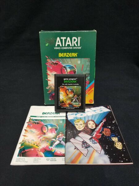 "1982 Vintage Atari 2600 ~ ""berzerk"" Vcs Game W/h Instruction Booklet & Comic Laatste Stijl"