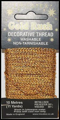 Lincatex Gold Rush Metallic Decorative Glitter Embroidery Thread 10m BABY BLUE