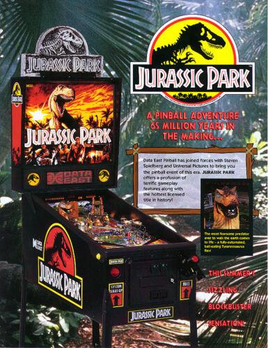 Data East ROM Upgrade chip set Jurassic Park Pinball