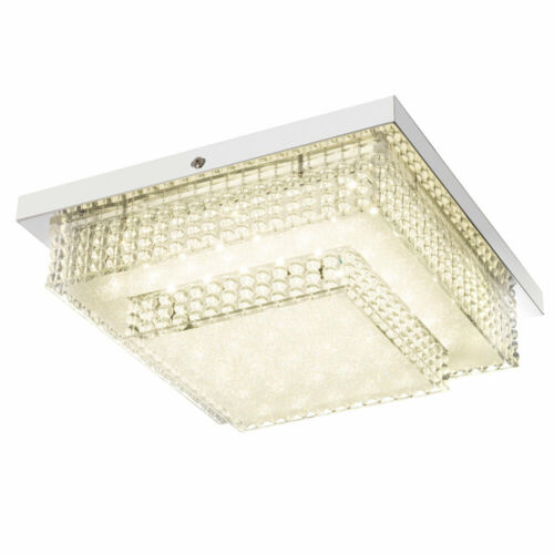 Design DEL Plafonnier Lampe Salon Chambre Cristal Effet-Film éclairage