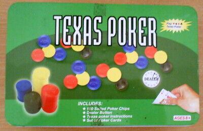 Acquista A Buon Mercato Texas Poker Set. Chip. Carte. Le Regole. Card Game. Gioco D'azzardo.-mostra Il Titolo Originale Rinvigorire Efficacemente La Salute