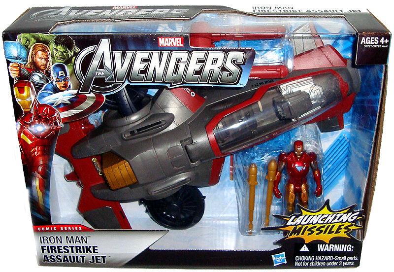 Avengers Iron Man Firestrike Assault Jet MIB Toy Vehicle Marvel Comics Hasbro